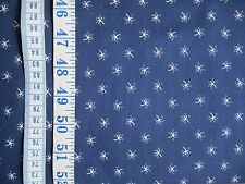 Penny Rose Cheddar & Indigo fabric 100% cotton Navy with white/blue print per FQ