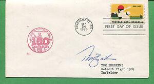 Signé Housse Tom Brookens Detroit Tigers 1984 Infielder 1984 - B0775