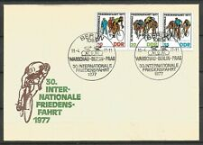 Germany (East) DDR GDR 1977 FDC Int Peace Cycle Race Warsaw-Berlin-Prague