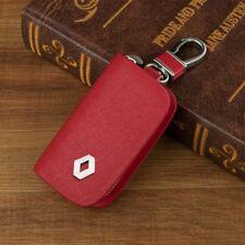 Elegant Cowhide Leather car key bag key ring key chain for RENAULT Red