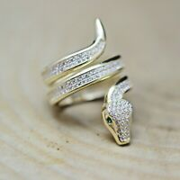925 Sterling Silver Handmade Turkish Zircon Ladies Ring Size 6-12