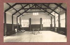 "School Hall, gymnastic ""horse"", piano, hammerbeam ceiling brick columns  RK251"