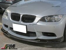 For BMW E90 E92 E93 M3 08-13 Only 3D Style Carbon Fiber Front Bumper Spoiler Lip