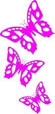 Mariposa Rosa adhesivos de vinilo de calcomanías, Auto, Ventana, van # 6