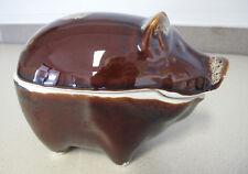 Russian Soviet Porcelain Brown Pig Piglet figurine table dish Поросенок посуда