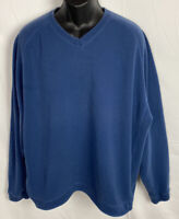 Tommy Bahama  Mens Reversible Flip Sweater Size XL Blue/Gray Pullover Shirt