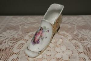 Vintage Victorian Style Shoe Vase / Trinket - Gilt With Fairy - Large - Reas