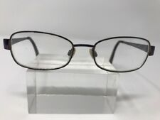Anne Klein Eyeglasses 50-16-135 Purple Metal Frame Full Rim 7206