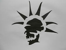 Schablone PunkSkull  auf A4