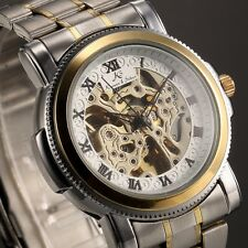 KS Men's Wrist Watch Skeleton Automatic Mechanical Stainless Steel Wrist Watch