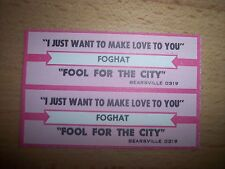 """2 Foghat I Just Want To Make Love To You Jukebox Title Strips 7"""" 45RPM Records"""