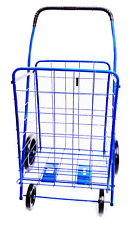 DLUX Xtra-Lg Folding Shopping Cart Grocery/Laundry Basket D801S,BLUE(Jumbo Size)