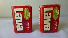 Vintage Lava Hand Soap Movie Prop Bar Soap Large Size 6.5 Ounces Set of 2