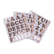 Grandi Adesivi alfabeto numeri e lettere Rose Gold 71 ADESIVI Craft