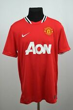 MANCHESTER UNITED 2011-2012 NIKE AON SHORT SLEEVE HOME SHIRT LARGE MENS