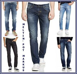 Jeans Meltin pot uomo elasticizzato markus pantaloni slim fit a vita bassa w31