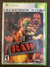 WWF WWE Raw (Microsoft Xbox, 2002) CIB Complete / Tested