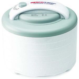 Nesco Dehydrator Jerky Maker White Adjustable Thermostat Removable Lid (6-Tray)