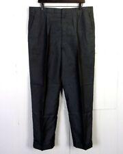 vtg 50s Barleff's Gray/Taupe Shiny Sharkskin Pants Drop Loop Talon 38 X 29