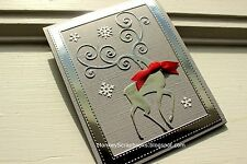 Impression Obsession REINDEER FLOURISH thin metal die,Christmas, Made in USA