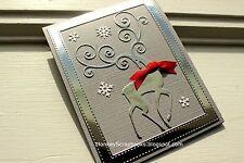 Impression Obsession REINDEER FLOURISH thin metal die,Christmas