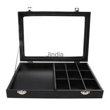 Black Leather Necklace Ring Jewelry Retail Display Tray Box Storage Case #2