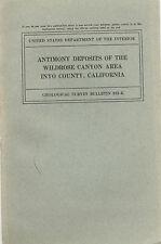 Little-known mines, Panamint Mtns, Death Valley, Calif, RARE 1st ed, sep MAPS !!