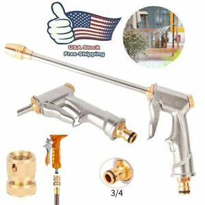 High Pressure Power Gun Water Spray Car Clean Washer Tool Set Garden Hose Nozzle