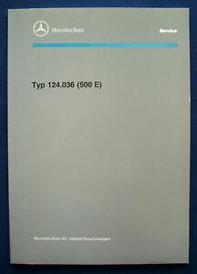 Prospekt brochure Mercedes 500E Einführungsschrift für den Kundendienst (1/1991)