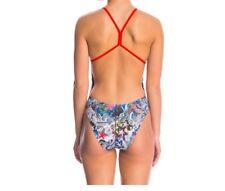 NWT SPEEDO Women's Endurance Lite Grafitti USA Swimsuit 7708626 972 Size 12/38