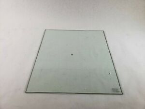 """Clear Square Flat Polished Tempered Glass Top 16 3/4"""" x 18 3/4"""" x 1/4"""" Thick"""