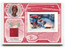 2005 LEAF CENTURY STAMP OLYMPIC RELIC #43 LOU BROCK CARDINALS 21/95