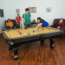 EastPoint Sports 87 Inch Brighton Billiard Pool Table Set Full Accessories Tan