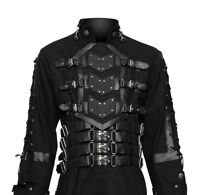 Hellraiser Dark Goth Coat Gothic Steampunk Jacket Punk Vampire Men Long Coat