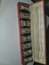 Vintage Set of 8 Cartier Sterling Silver Salt & Pepper Shakers AS IS