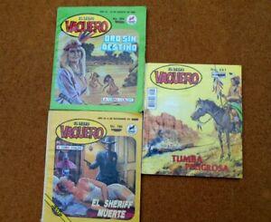 cowboys wild wild west El Libro Vaquero Mexican Comic Spanish Lot Of 3