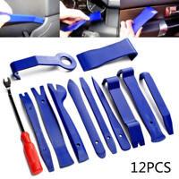 12pcs/set Plastic Car Radio Door Clip Panel Trim Dash Audio Removal Pry Kit TooL