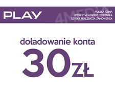 DOŁADOWANIE DOLADOWANIE - PLAY 30 PLN [Szybka realizacja/PayPal/Przelew]