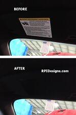 2015 - 2018 Ford Mustang Visor Warning Label Cover Decals for Sunvisor