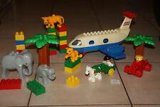 LOT LEGO DUPLO ZOO AVION ANIMAUX