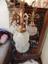 Vintage 4 Globe Swag Lamp, great look and light