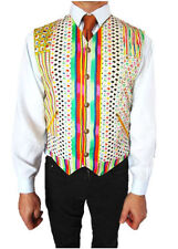 Cotton Striped Casual Waistcoats for Men