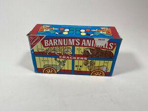 Vintage 1970s Barnum's Animal Crackers Empty Box