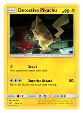 Detective Pikachu 10/18 - Rare Holo Foil Card - Pokemon TCG Detective Pikachu