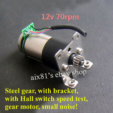 DC 12V Gearmotor Full Metal Gear Geared Motor with Hall Speed Test + Stents