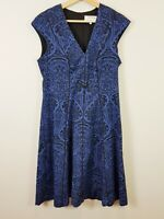 [ VERONIKA MAINE ] Womens Textured Print Dress    Size 12