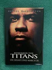 Remember The Titans 2000 HTF Flatback Pin Promotional Denzel Washington