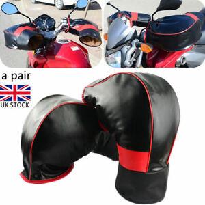 Waterproof Motorcycle Handle Bar Mitts Hand Warmer Motorbike Muff Glove Cover UK