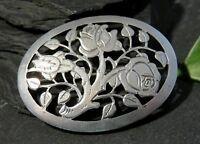 Edle 900 Silber Brosche Meisterpunze Jugendstil Art Deco Rosen Tracht Blume