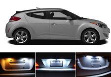 Xenon White License Plate / Tag 168 194 LED light bulb for Hyundai Veloster 2Pcs